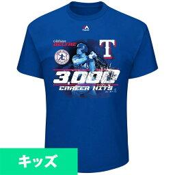 お取り寄せ MLB レンジャーズ エイドリアン・ベルトレ 3000本安打記念 キッズ Tシャツ マジェスティック/Majestic ロイヤル