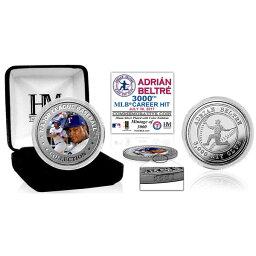 お取り寄せ MLB レンジャーズ エイドリアン・ベルトレ 3000本安打記念 シルバーコイン ハイランドミント/Highland Mint ロイヤル
