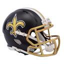 NFL セインツ ブレイズ レボリューション スピード ミニ フットボール ヘルメット リデル/Riddell