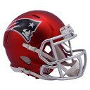 NFL ペイトリオッツ ブレイズ レボリューション スピード ミニ フットボール ヘルメット リデル/Riddell