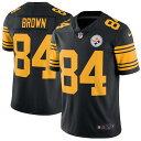 お取り寄せ NFL スティーラーズ アントニオ・ブラウン カラーラッシュ リミテッド プレーヤー ユニフォーム/ユニホーム ナイキ/Nike ブラック