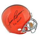 お取り寄せ NFL ブラウンズ ジム・ブラウン 直筆サイン入り オーセンティック ヘルメット 3x MVP リデル/Riddell