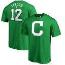 お取り寄せ MLB インディアンス フランシスコ・リンドール セント・パトリックス・デー ネーム&ナンバー Tシャツ ケリーグリーン