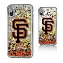 お取り寄せ MLB ジャイアンツ iPhone X ケース/カバー スパークル グリッター
