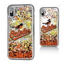 お取り寄せ MLB オリオールズ iPhone X ケース/カバー スパークル グリッター