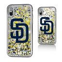 お取り寄せ MLB パドレス iPhone X ケース/カバー スパークル グリッター