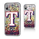 お取り寄せ MLB レンジャーズ iPhone X ケース/カバー スパークル グリッター