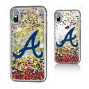 お取り寄せ MLB ブレーブス iPhone X ケース/カバー スパークル グリッター