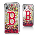 お取り寄せ MLB レッドソックス iPhone X ケース/カバー スパークル グリッター