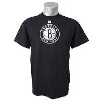NBA ネッツ プライマリーロゴ Tシャツ 半袖 マジェスティック/Majestic ブラックの画像