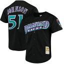 お取り寄せ MLB ダイヤモンドバックス ランディ・ジョンソン クーパーズタウン メッシュ バッティングプラクティス ユニホーム Mitchell & Ness