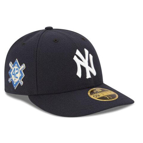 お取り寄せ MLB ヤンキース 2018 ジャッキー・ロビンソン・デイ ロープロファイル 59FIFTY フィッテッド キャップ/帽子 ニューエラ/New Era ネイビー