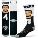 お取り寄せ NFL オークランド・レイダース デレック・カー ソックス/靴下 セルフィー For Bare Feet