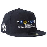 MLB ヤンキース キャップ/帽子 MTA コラボ 59FIFTY ニューエラ/New Era ネイビーの画像