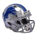 NFL ライオンズ ミニ ヘルメット フットボール クローム オルタネート スピード リデル/Riddell