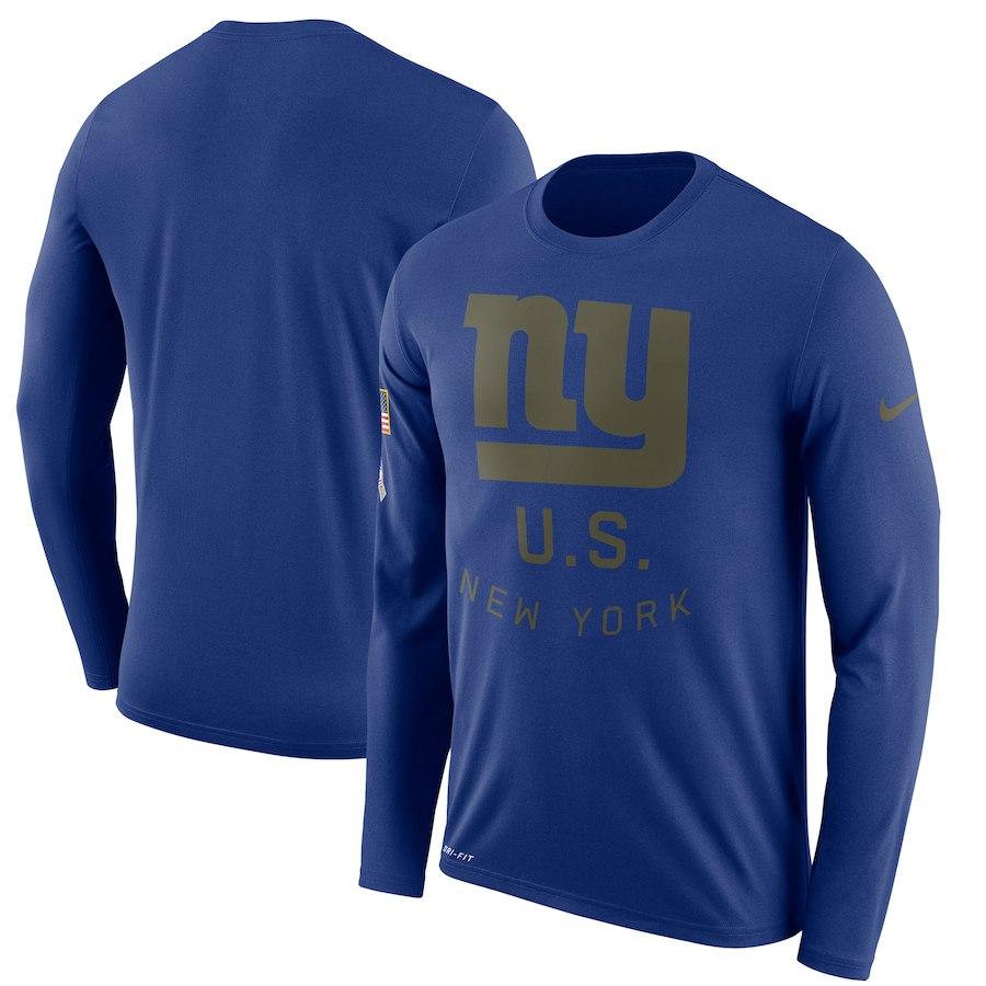 お取り寄せ NFL ジャイアンツ Tシャツ サルート トゥ サービス サイドライン レジェンド ロンT ナイキ/Nike ロイヤル