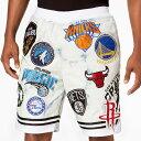 NBA ショートパンツ/ショーツ ヘリテージ アメリカン パッチ UNK ホワイト