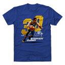 ショッピングフェンス NBA Tシャツ ウォリアーズ ステファン・カリー プレーヤー アート オフェンス 500Level ロイヤルブルー