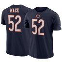 お取り寄せ お取り寄せ NFL ベアーズ カリル・マック Tシャツ ネーム&ナンバー プレーヤー プライド メンズ ナイキ/Nike ネイビー