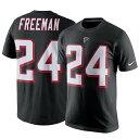お取り寄せ NFL ファルコンズ デボンタ・フリーマン Tシャツ ネーム&ナンバー プレーヤー プライド メンズ ナイキ/Nike ブラック