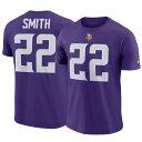 お取り寄せ お取り寄せ NFL バイキングス ハリソン・スミス Tシャツ ネーム&ナンバー プレーヤー プライド メンズ ナイキ/Nike パープル