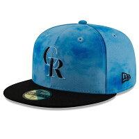 MLB ロッキーズ キャップ/帽子 2019 ファーザーズデー オンフィールド 父の日 ニューエラ/New Era ブラックの画像