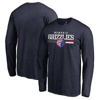 NBA グリズリーズ Tシャツ ロングスリーブ ネイビーの画像