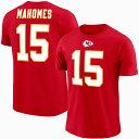 チーフス パトリック・マホームズ NFL Tシャツ ネーム&ナンバー エリジブルレシーバー3 マジェスティック/Majestic レッド