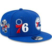 76ers キャップ/帽子 NBA ロゴ ラップ 9FIFTY アジャスタブル スナップバック ニューエラ/New Era ロイヤルの画像