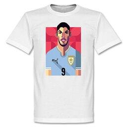 ウルグアイ代表 <strong>ルイス・スアレス</strong> Tシャツ SOCCER プレイメーカー ホワイト