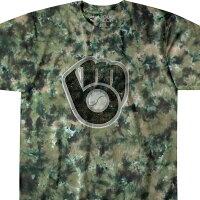 MLB ミルウォーキー・ブリュワーズ Tシャツ タイダイ染め カモの画像