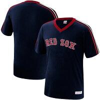 MLB ボストン・レッドソックス Tシャツ オーバータイム ウィン Vネック ミッチェル&ネス/Mitchell & Ness ネイビーの画像