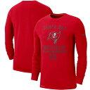NFL バッカニアーズ Tシャツ 2019 サルート トゥ サービス サイドライン パフォーマンス ロング スリーブ ナイキ/Nike レッド