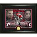 NFL トム・ブレイディ & ロブ・グロンコウスキー バッカニアーズ 13'' x 16'' Bronze Coin Photomint The Highland Mint