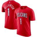 ショッピングedition ザイオン・ウィリアムソン Tシャツ tシャツ ジョーダン Jordan ペリカンズ NBA レッド 2020/21 ステートメントエディション