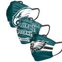 イーグルス マスク NFL フェイスマスク フェイスカバー 大人用 3枚パック フィラデルフィア