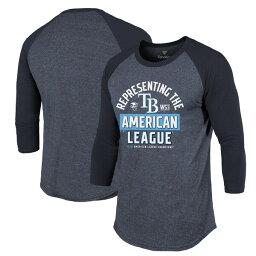 <strong>筒香嘉智</strong> 所属 タンパベイ・レイズ Tシャツ tシャツ MLB 2020 リーグ優勝 ロッカールーム ラグラン 7分袖 七分袖 ネイビー MLB2020PS