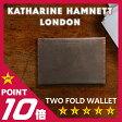 キャサリンハムネット 二つ折り財布 カラーテーラード KATHARINE HAMNETT 490-51913 革財布 メンズ レディース