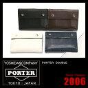 吉田カバン ポーター ダブル 財布 二つ折り財布 山羊革 PORTER 129-06011