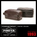 吉田カバン ポーター アラウンド セカンドバッグ ポーチ 革 本革 レザー 冠婚葬祭 PORTER 003-01268