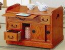 キャスター付サイドワゴン 小袖机 (KP-1400) 【送料無料】(キッチンワゴン、ラック、収納家具、サイドテーブル)