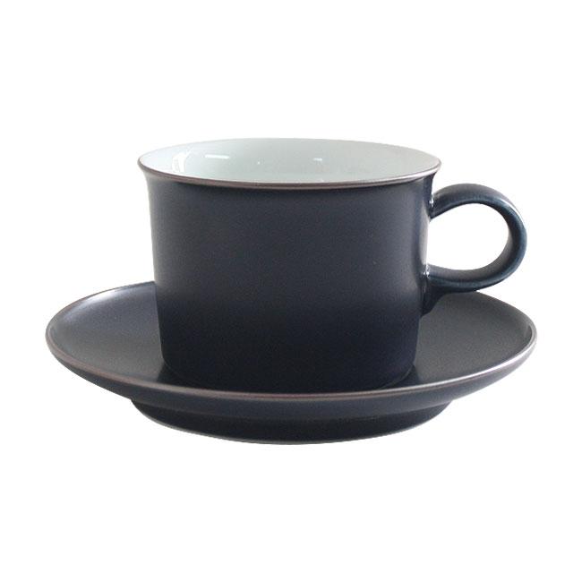 白山陶器 ONEST コーヒーカップ&ソーサー 200ml 紺マット / オネスト カップ&ソーサー 急須 波佐見焼