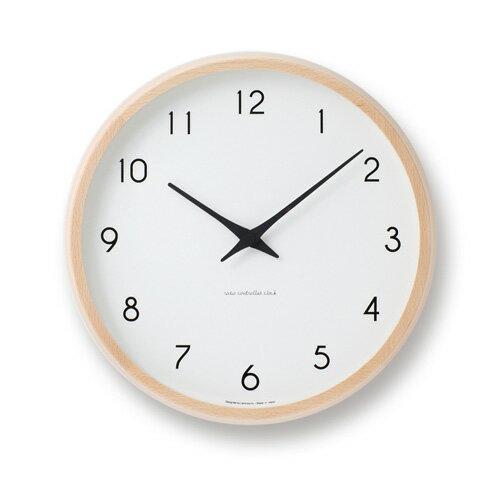 【送料無料・あす楽対応】Lemnos レムノス PC10-24W NT Campagne ナチュラル / 電波時計 壁掛時計 掛け時計 新築祝い 引越し祝い タカタレムノス KO-3