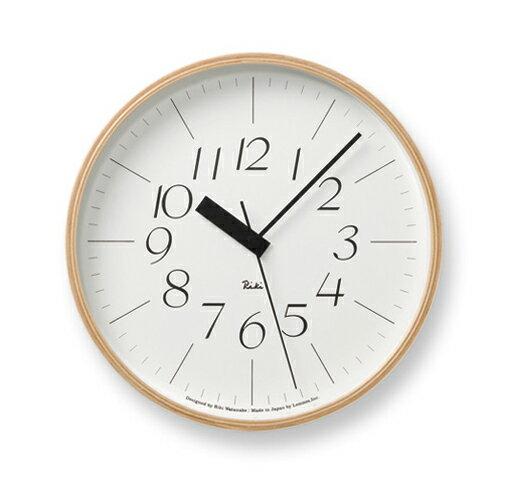 【送料無料・あす楽対応】Lemnos レムノス WR07-10 Riki Clock RC ナチュラル / 電波時計 壁掛時計 掛け時計 新築祝い 引越し祝い タカタレムノス KO-3