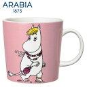 【SALE】ARABIA アラビア ムーミンマグカップ フローレン 300ml / Snorkmaidn Pink Moomin Collection ムーミンコレクション 北欧 食器