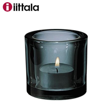 【SALE】Iittala イッタラ Kivi キビ グレー 60mm キャンドルホルダー / 今なら日本製キャンドルを2個プレゼント! キヴィ 北欧 ギフト