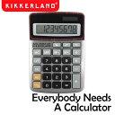 【ゆうパケットなら1個迄送料230円】】Kikkerland キッカーランド Everybody Needs A Calculator エブリバディニードアカリキュレーター KCC09 / 電卓 ソーラー電卓 計算機 レトロ おしゃれ