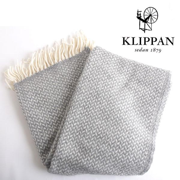 【SALE】Klippan クリッパン スローケット polka ポルカ グレー (130×200cm) / ひざ掛け 毛布 ブランケット ウールスローケット 北欧 大判