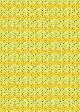 【メール便なら10個迄送料164円】Marimekko マリメッコ Mini Unikko ミニウニッコ イエロー ファブリック生地 10cm単位の切り売り 綿100%生地 コットン100%生地