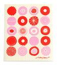 ベングト&ロッタデザイン スポンジワイプ CANDY RED/PINK 抜群の吸水力で乾きも早い!
